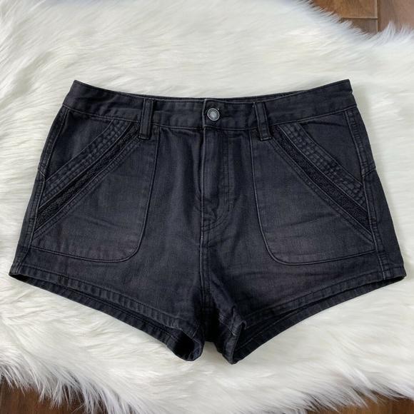 Free People Pants - Free People Black Sweet Surrender Jean Shorts